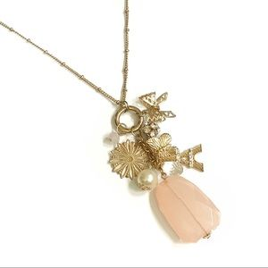 Jewelry - Eiffel Tower Butterfly Charm Gold Tone Necklace